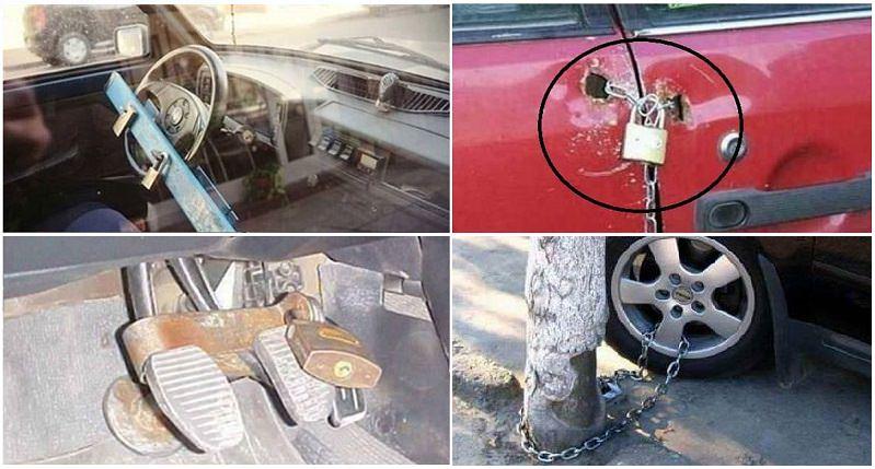 أغرب الطرق المستخدمة لحماية السيارات من السرقة