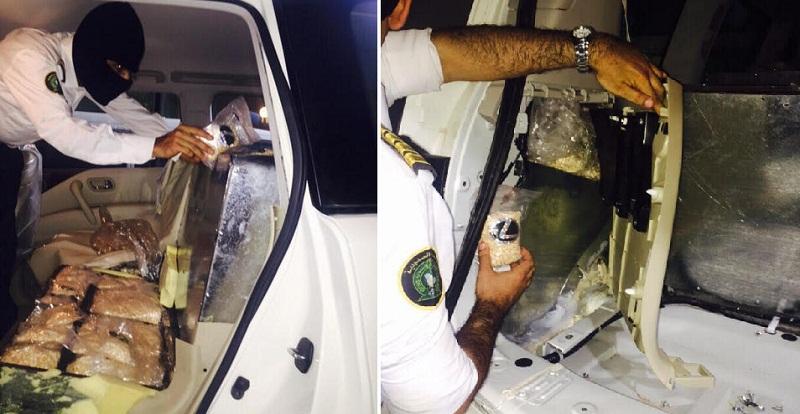 الجمارك السعودية تضبط مخدرات مهربة في سيارة بطريقة احترافية