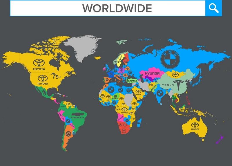 دراسة عن أكثر شركات السيارات بحثاً في العالم
