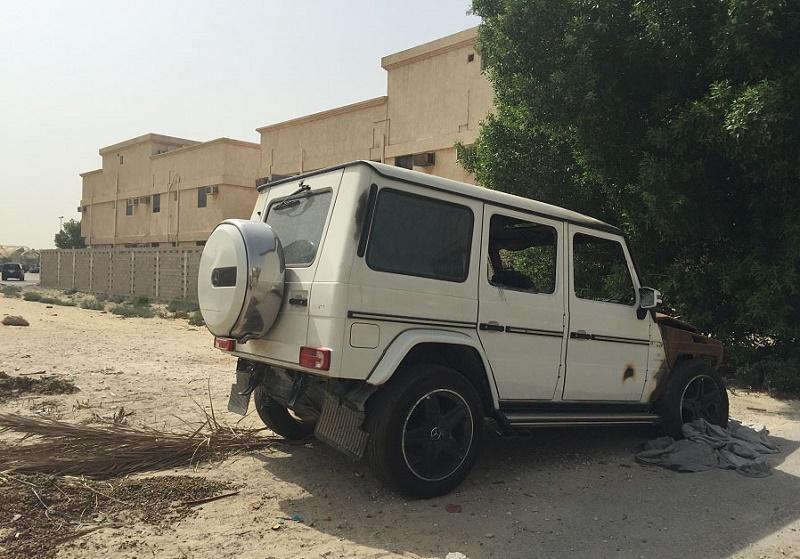 الرياض تزيل السيارات المهجورة