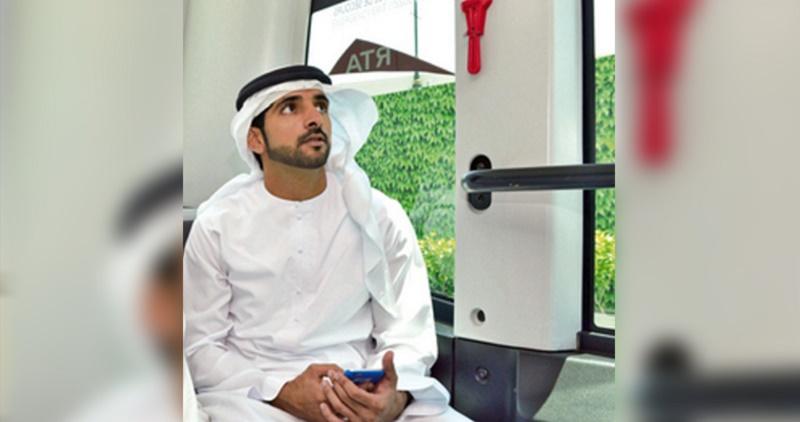 الشيخ فزاع يطلق المرحلة التجريبية لوسيلة مواصلات بدون سائق