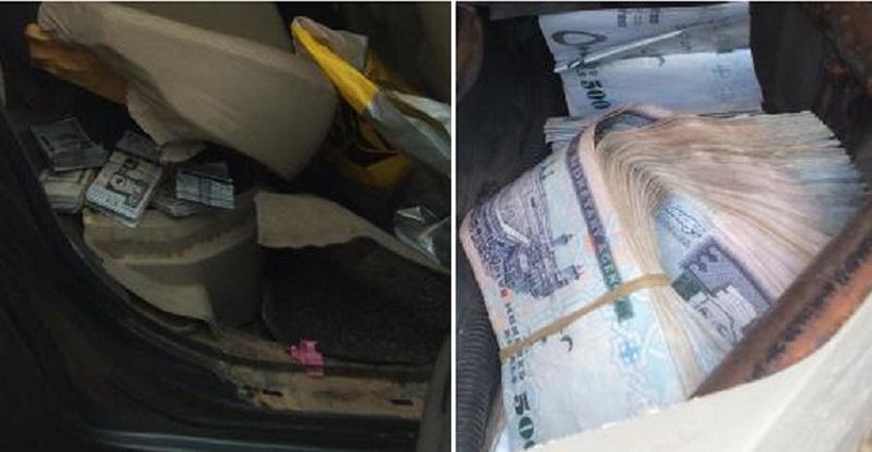 سائق يخفي نصف مليون ريال في مقعد سيارته في السعودية