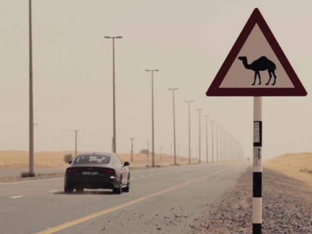 اودي A7 سبورت باك تتحدى صحراء دبي