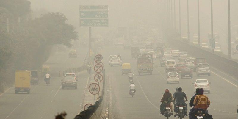 تلوث الهواء في طرق الهند
