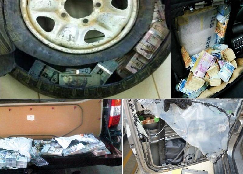 أجزاء من السيارة قد تحتوي على أموال مخبأة