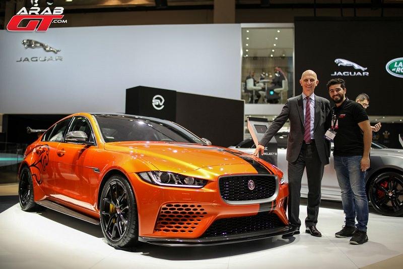 أقوى سيارة صنعتها جاكوار تظهر في معرض دبي