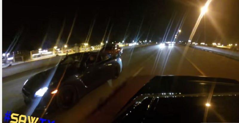 الشرطة تنهي سباق جمع بين تشالنجر هيلكات و جي تي ار