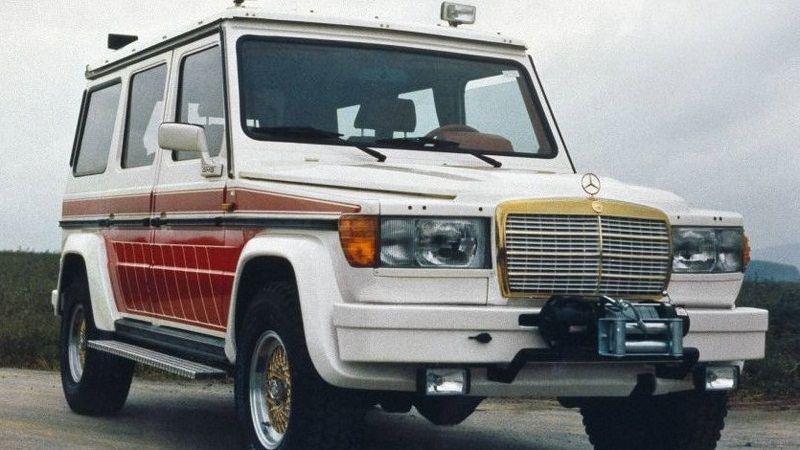 جي كلاس قديمة مميزة بمحرك مستعار من مرسيدس اس كلاس