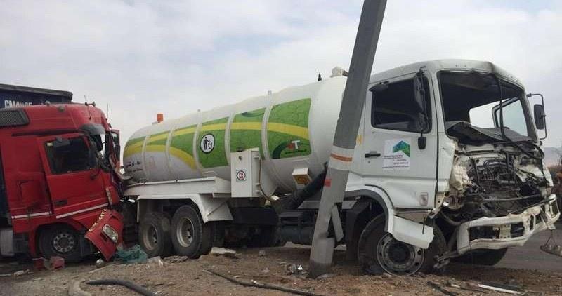 حادث تصادم جماعي يتسبب في وفاة رجل امن سعودي واصابة 7