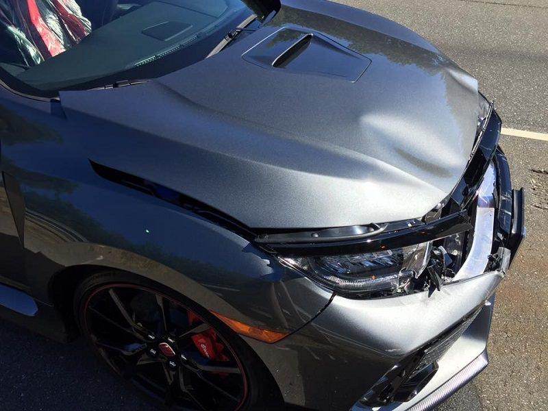 حادث سيارة هوندا سيفيك تايب ار 2017
