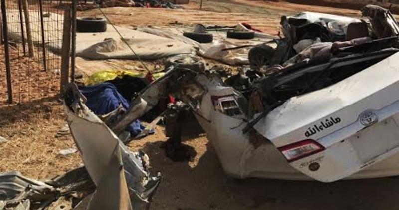 حادث شنيع يسفر عن وفاة 6 من عائلة واحدة بالسعودية