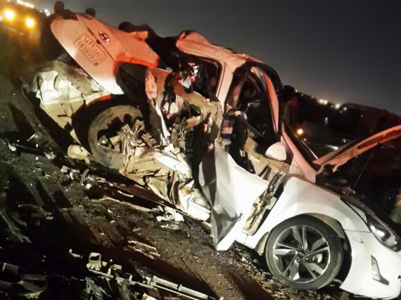 حادث مروع يتسبب في مصرع 5 اشخاص بالسعودية