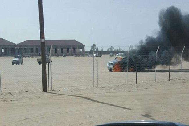 سعودي يحرق سيارته ويشعل مواقع التواصل الاجتماعي