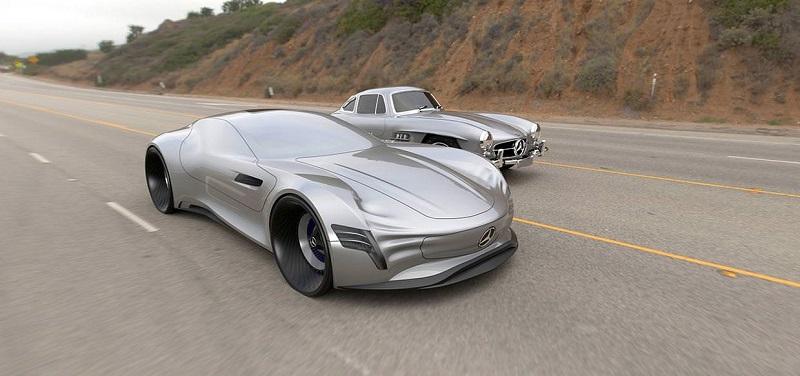 مرسيدس 300 SL Gullwing مستقبلية بدون زجاج خارجي
