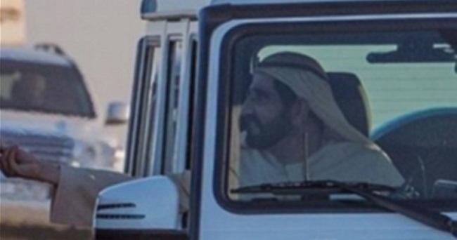 صورة حاكم دبي والشيخ فزاع مع سيارتيهما تشعل مواقع التواصل