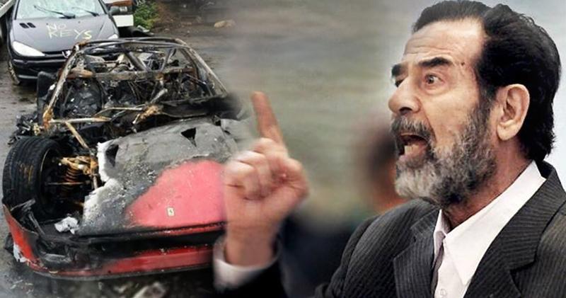 كتاب جديد يكشف سر احراق صدام حسين سيارات ابنه عدي