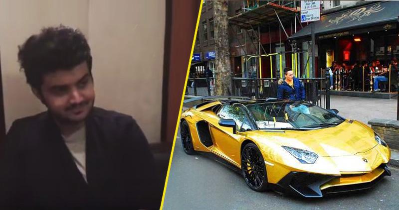 مالك السيارات الذهبية يتحدث عن محاولة لص سرقة قطعة منها