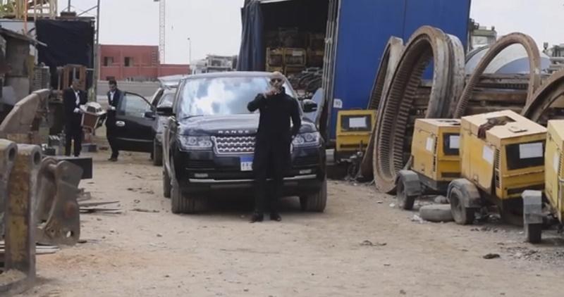 فيديو من وراء الكواليس لمحمد رمضان مع رنج روفر