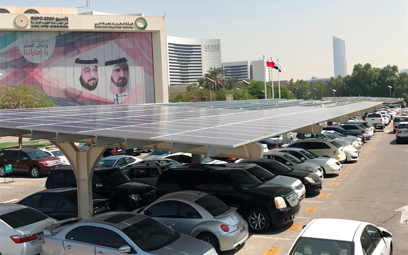 مواقف سيارات شمسية هو جديد ديوا في دبي