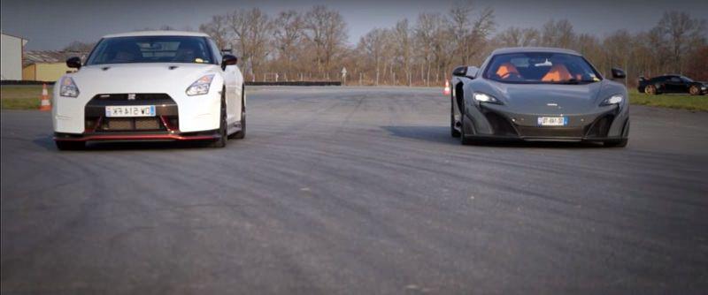 GTR Nismo تسابق ماكلارين 675LT لتظهر نتيجة غير متوقعة