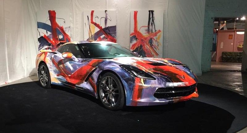 كورفيت 2014 تتحول إلى لوحة فنية قبل بيعها بمبلغ لا يصدق