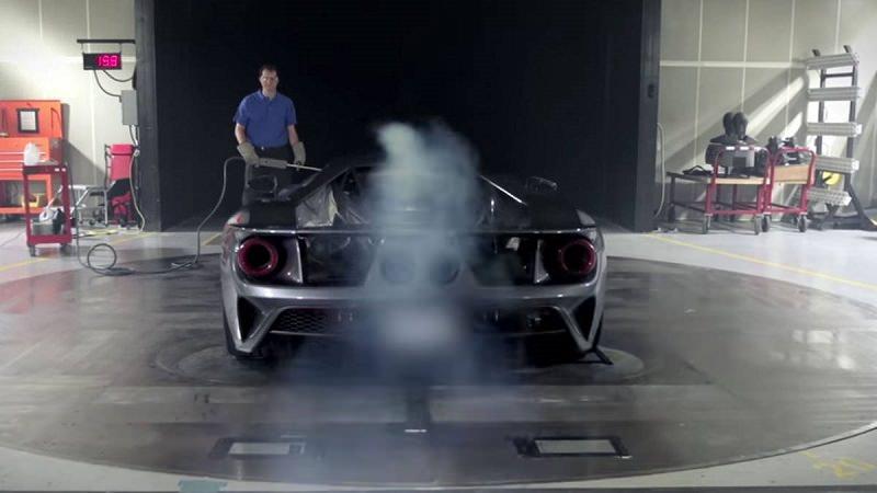 شاهد كيف تقوم فورد GT 2017 باختبار نفق الرياح