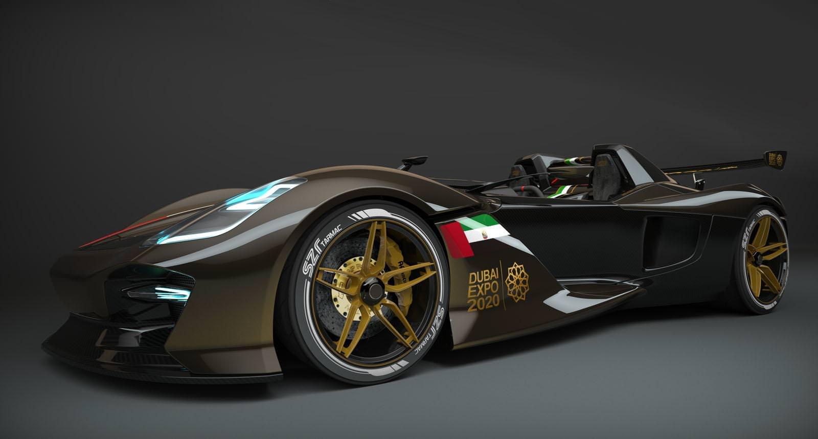 سيارة اماراتية الصنع ستنافس أشهر سيارات السباق