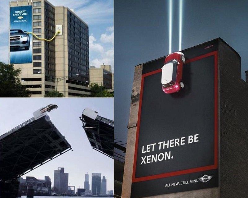 أغرب الإعلانات على الطرق للترويج للسيارات الحديثة