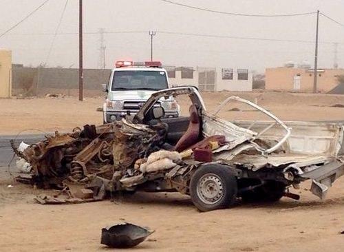 مصرع سائق هايلوكس جراء تصادم مع ناقلة غاز في السعودية