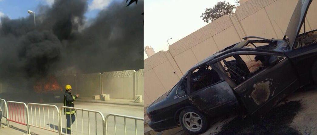 سعودي من ذوي الاحتياجات الخاصة يحرق سيارته احتجاجا