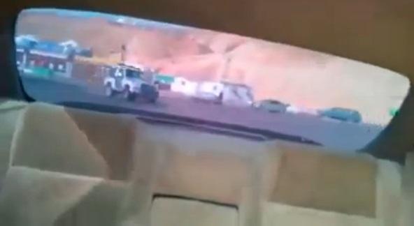 دورية سعودية تصطدم بالرصيف أثناء مطاردة