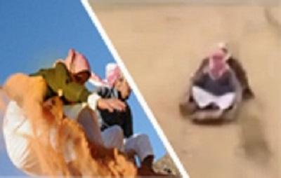 تزلج على الرمال ينتهي بطريقة مضحكة