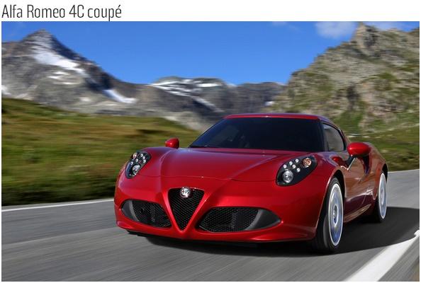Alfa Romeo 4C coupé-الفاروميو 4سي كوبيه
