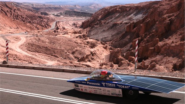 رالي للسيارات التي تعمل بالطاقة الشمسية في تشيلي
