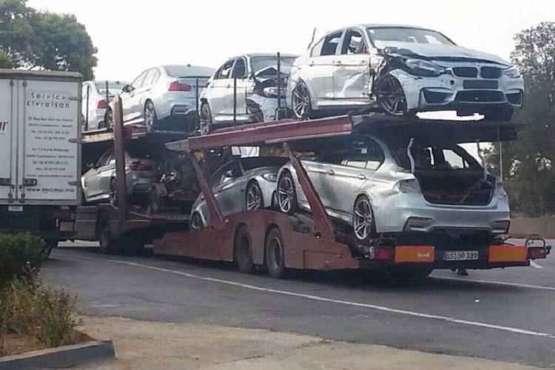 ما تبقى من سيارات بي ام دبليو ام 3 بعد تصوير ميشن امبوسيبل 5