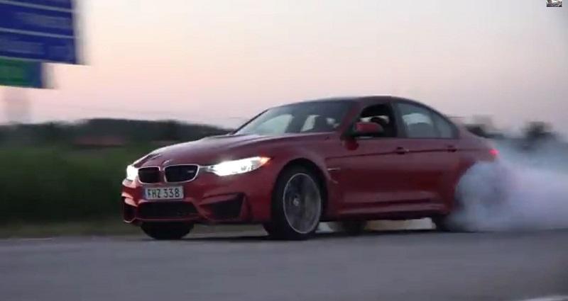 بي ام دبليو M3 طراز 2015 تقدم استعراض Burnout