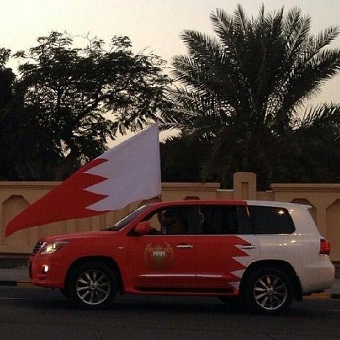 السيارات المزينة بمناسبة اعياد البحرين الوطنية