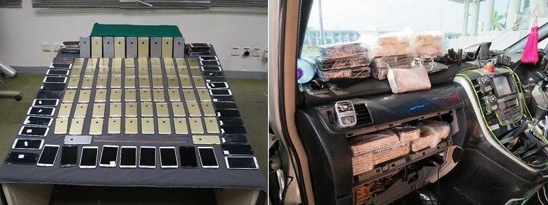 إحباط محاولة تهريب أجهزة اي فون في سيارة