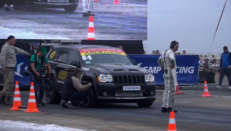 أسرع جيب جراند شيروكي SRT8 في أوروبا تسجل رقماً قياسياً