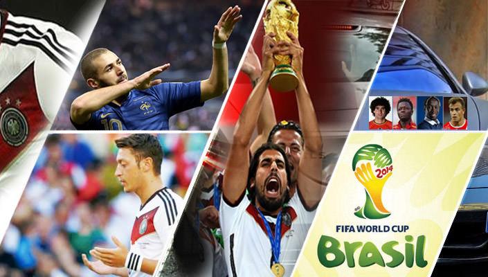 تعرف على سيارات النجوم المسلمين في كأس العالم 2014