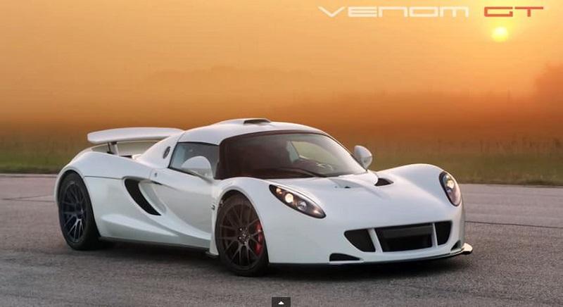 استمع الى صوت هينيسي فينوم جي تي إحدى أسرع السيارات في العالم