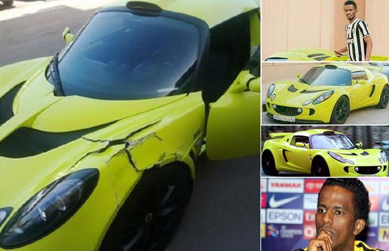 اللاعب السعودي هزازي يحطم سيارته لوتس اكسج S في الدمام