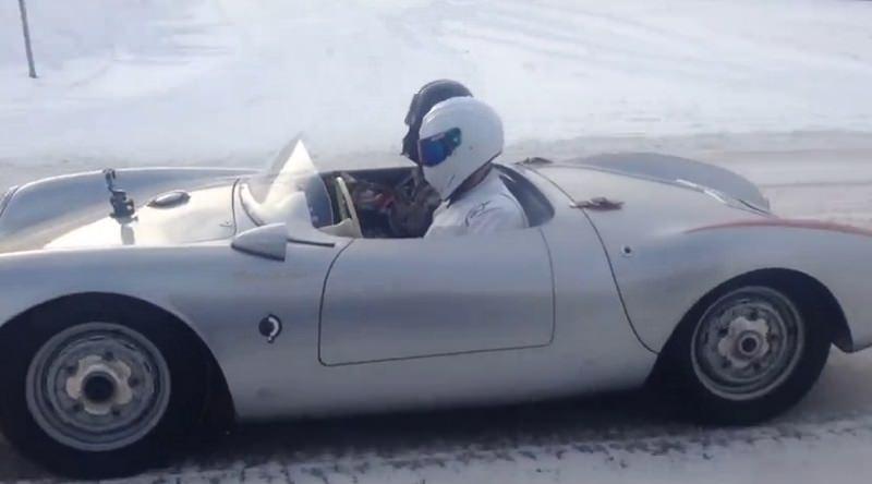 ذا ستيغ يقود بورش 550 كشف على الثلج