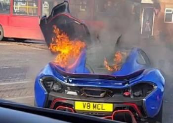 شاهد نهاية ماكلارين P1 في حريق مؤسف على الطريق