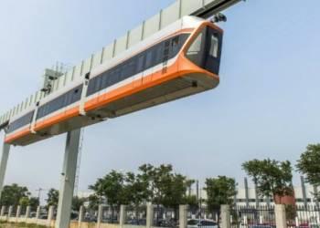 شاهد التشغيل التجريبي لأسرع قطار معلق في الصين