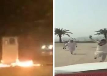 شاهد تخريب كاميرات ساهر بالسعودية