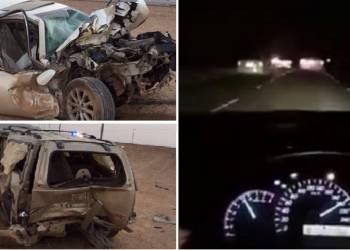 لحظة اصطدام سائق مسرع بسيارة أخرى أثناء انشغاله بالتصوير