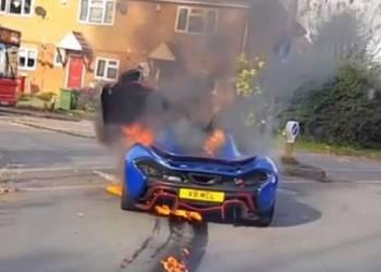 لحظات إندلاع النيران في سيارة يزيد سعرها عن 4 مليون ريال