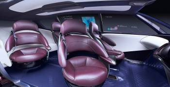 تويوتا تطلق سيارة خرافية مزودة بصالة جلوس مستقبلية