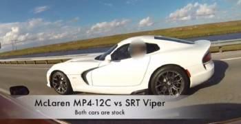 تحد غير قانوني يجمع بين MP4-12C و SRT فايبر